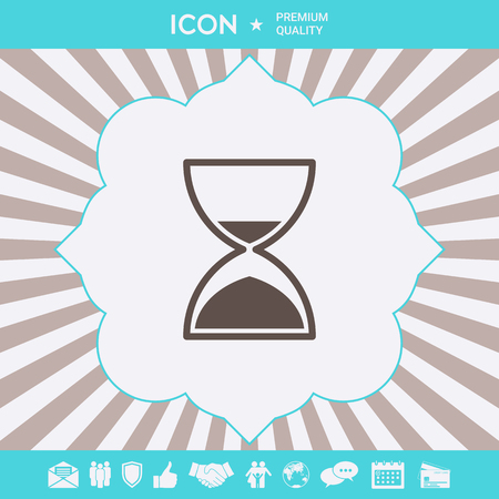 Hourglass time icon . Signs and symbols for your designt Illustration