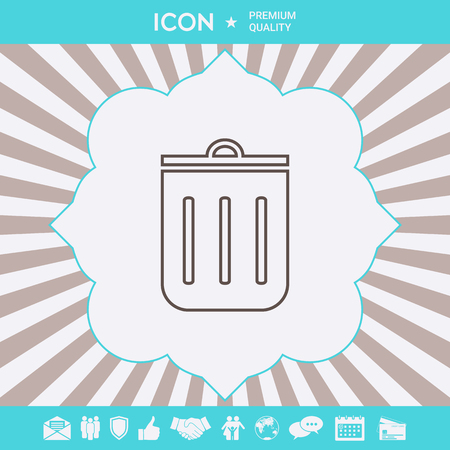 Trash can, icon . Signs and symbols for your designt