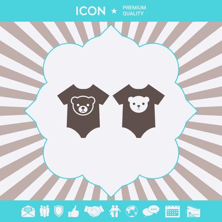 Babyspielanzug-Symbol. Element für Ihr Design