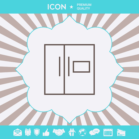 Refrigerator linear icon . Signs and symbols for your designt