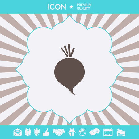 Beet root icon. Element for your design