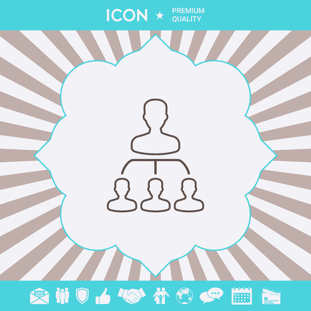 Hierarchy - line icon . Signs and symbols for your designt Illustration