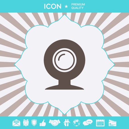 Webcam icon symbol . Signs and symbols for your designt