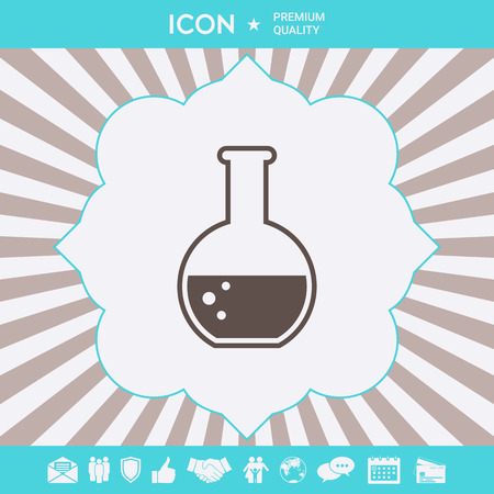 Test-tube with Bubbles symbol icon