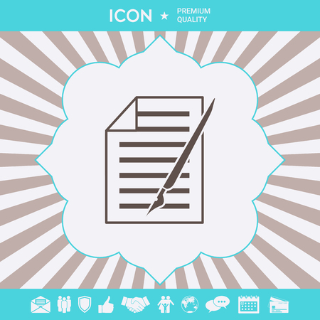 Sheet of paper and pen icon