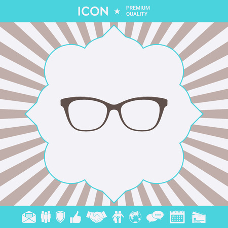 Glasses symbol Icon . Signs and symbols for your designt