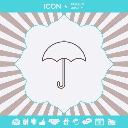 Umbrella line icon . Signs and symbols for your designt