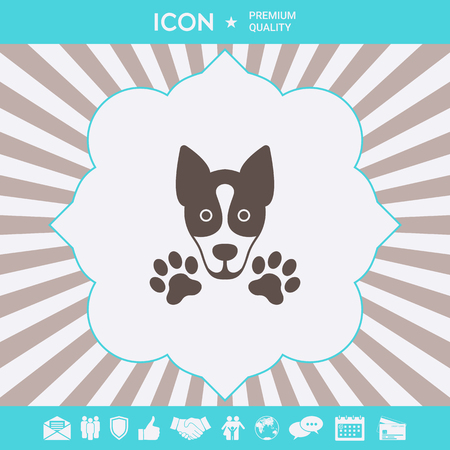Dog, paw - logo, symbol, protect sign Element for your design