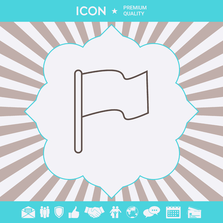 Flag linear icon . Signs and symbols for your designt