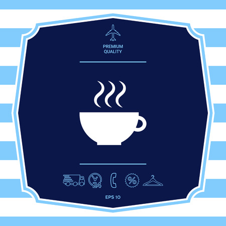 Cup with steam. Element for your design
