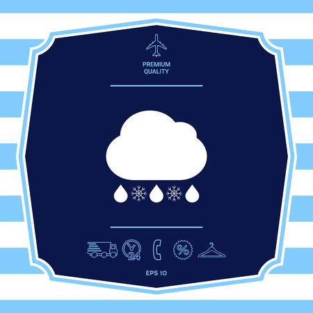 Cloud rain snow icon. Graphic elements for your design