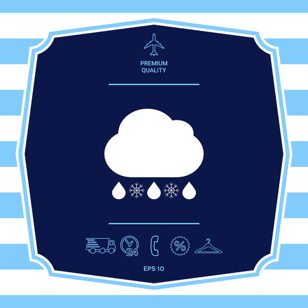 Cloud rain snow icon. Graphic elements for your design