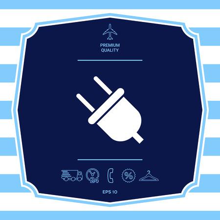 Plug symbol icon Illustration