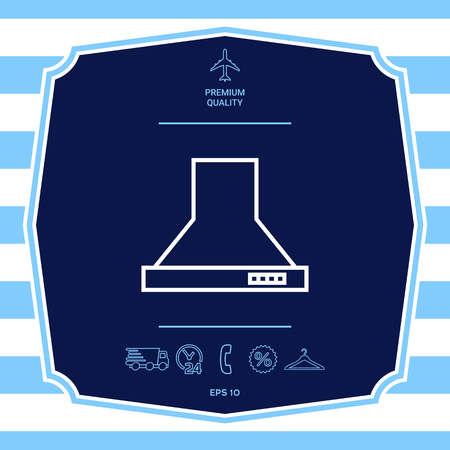 Kitchen hood linear icon. Graphic elements for your design