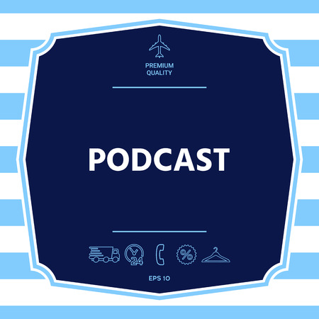 Podcast - icon for web and mobile app. Graphic elements for your design