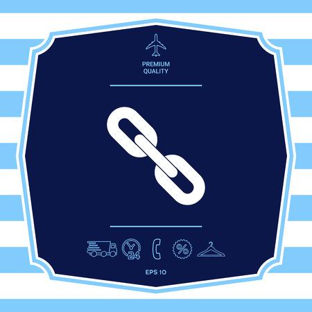 Link chain symbol icon
