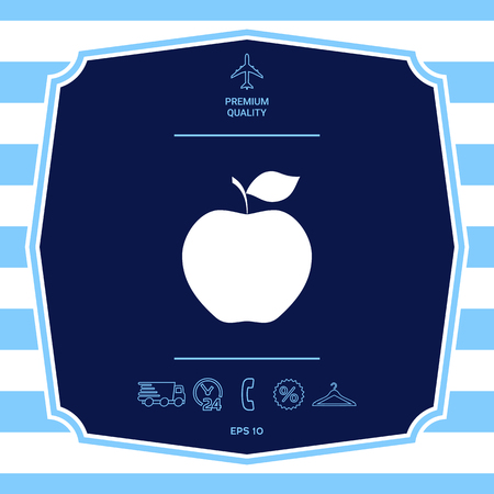 Apple icon symbol. Graphic elements for your design