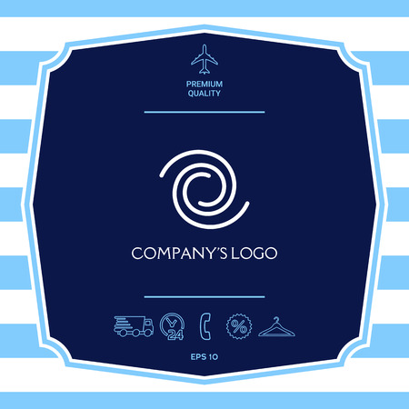 Logo - deux spirales - un symbole d'interaction, de nouvelles idées, de développement, d'illumination et de sagesse.