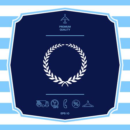 Laurel wreath - elegant symbol. Graphic elements for your design