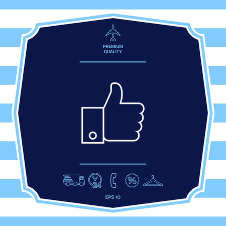 Thumb up gesture icon