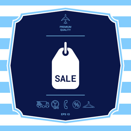 Sale tag symbol. Graphic elements for your design