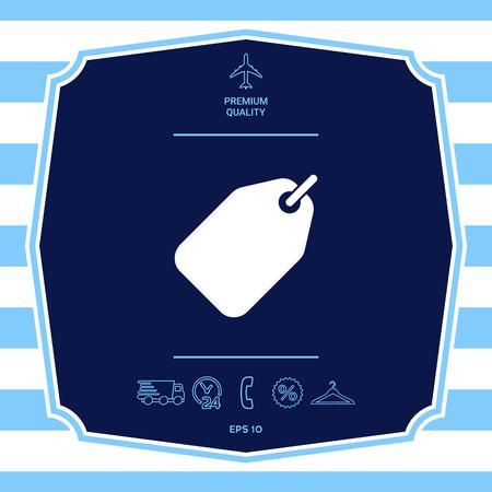 Tag symbol icon