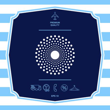 Sun icon symbol. Graphic elements for your design