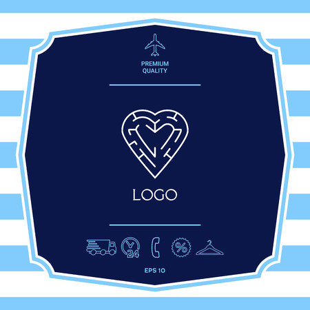 Logo - a heart with the labirint - a symbol of the search for love, happiness.
