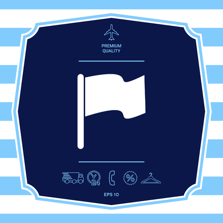 Flag symbol icon. Graphic elements for your design