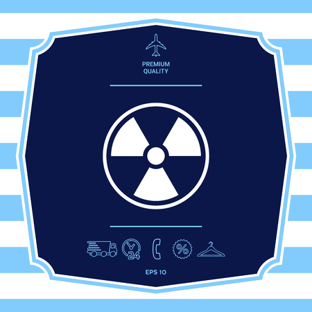 Ionizing radiation icon. Graphic elements for your design