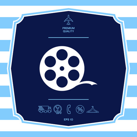 Reel film symbol. Graphic elements for your design