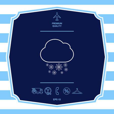 Cloud snow line icon. Graphic elements for your design