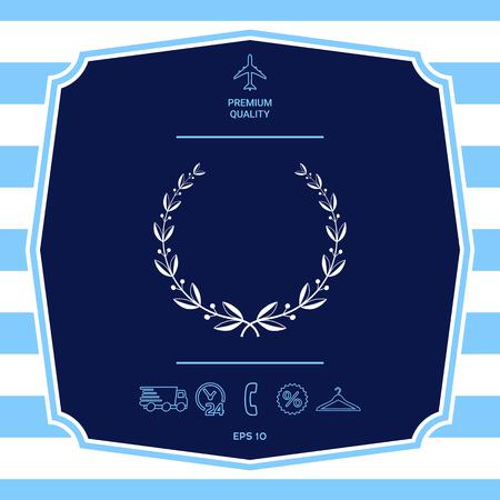 Symbole de couronne de laurier. Éléments graphiques pour votre conception