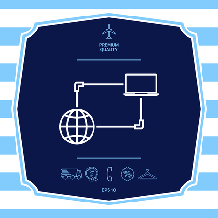 Internet connection, Data Exchange, Transfer Concept  Icon. Graphic elements for your design Illustration