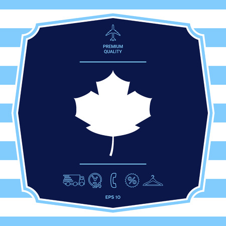 Maple leaf icon. Graphic elements for your design