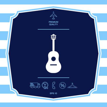 Guitar symbol icon Illustration