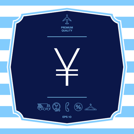 Yen symbol icon. Graphic elements for your design Illustration