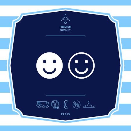 Smile Icon. Happy face symbol