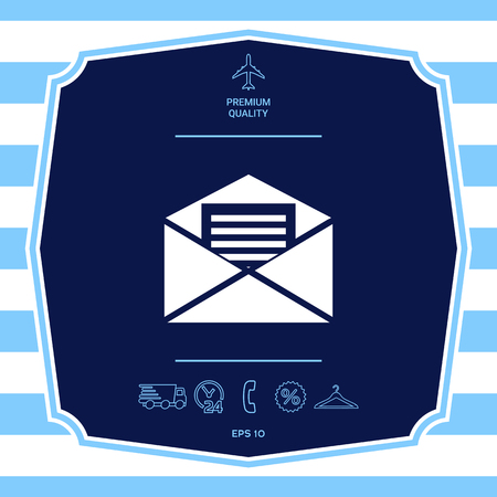 Email symbol icon. Graphic elements for your design