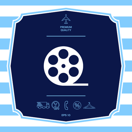 Reel film symbol icon. Graphic elements for your design