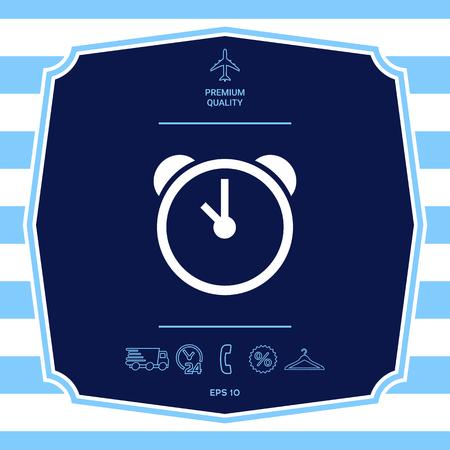 Alarm clock icon. Element for your design Ilustrace