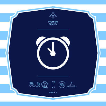 Alarm clock icon. Element for your design Illustration