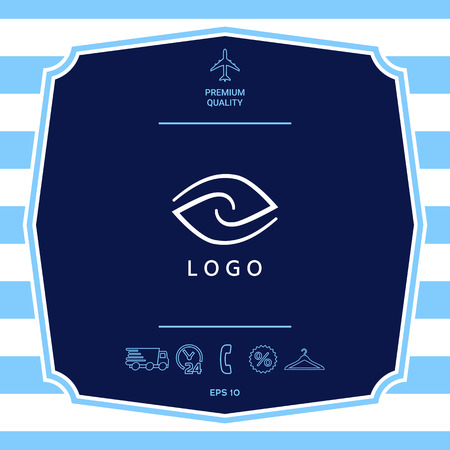 Logotype - two hemispheres of the brain, two leaves, two spirals, an eye with a pupil - a symbol of interaction, vision, clarity.