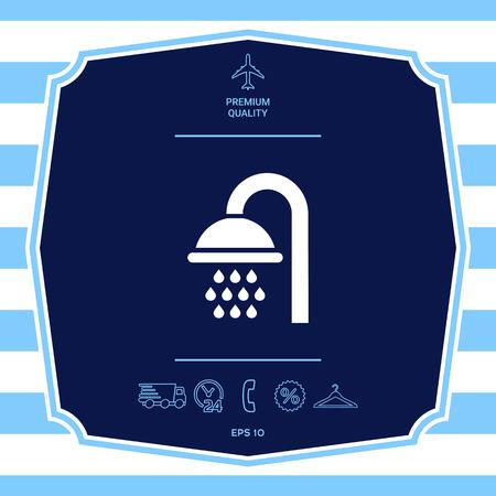 Shower symbol icon