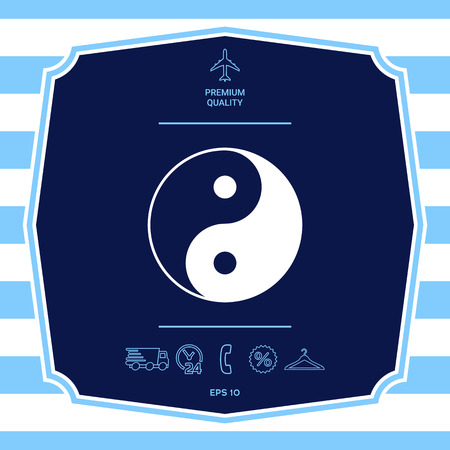 Yin yang symbol of harmony and balance. Graphic elements for your design