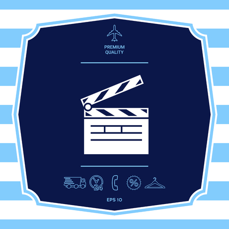 Clapperboard icon. Element for your design Illustration