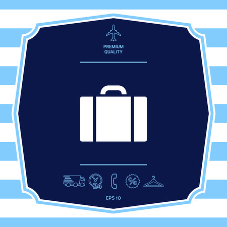 Travel bag icon. Graphic elements for your design