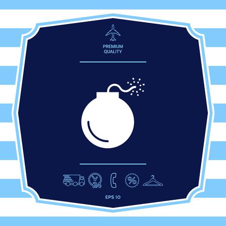 Bomb symbol icon. Element for your design