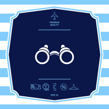 Binoculars symbol icon. Graphic elements for your design