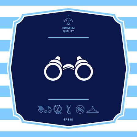 Icono de símbolo de binoculares. Elementos gráficos para su diseño Ilustración de vector